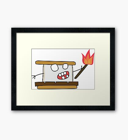 angry zombie s'more Framed Print