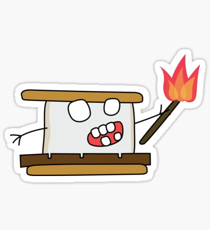 angry zombie s'more Glossy Sticker