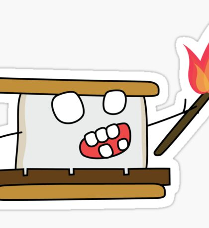 angry zombie s'more Sticker