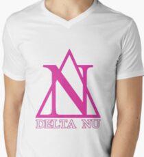 Delta Nu Men's V-Neck T-Shirt