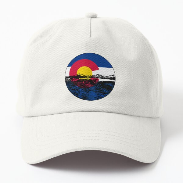 Colorado State Flag with Mountains Dad Hat