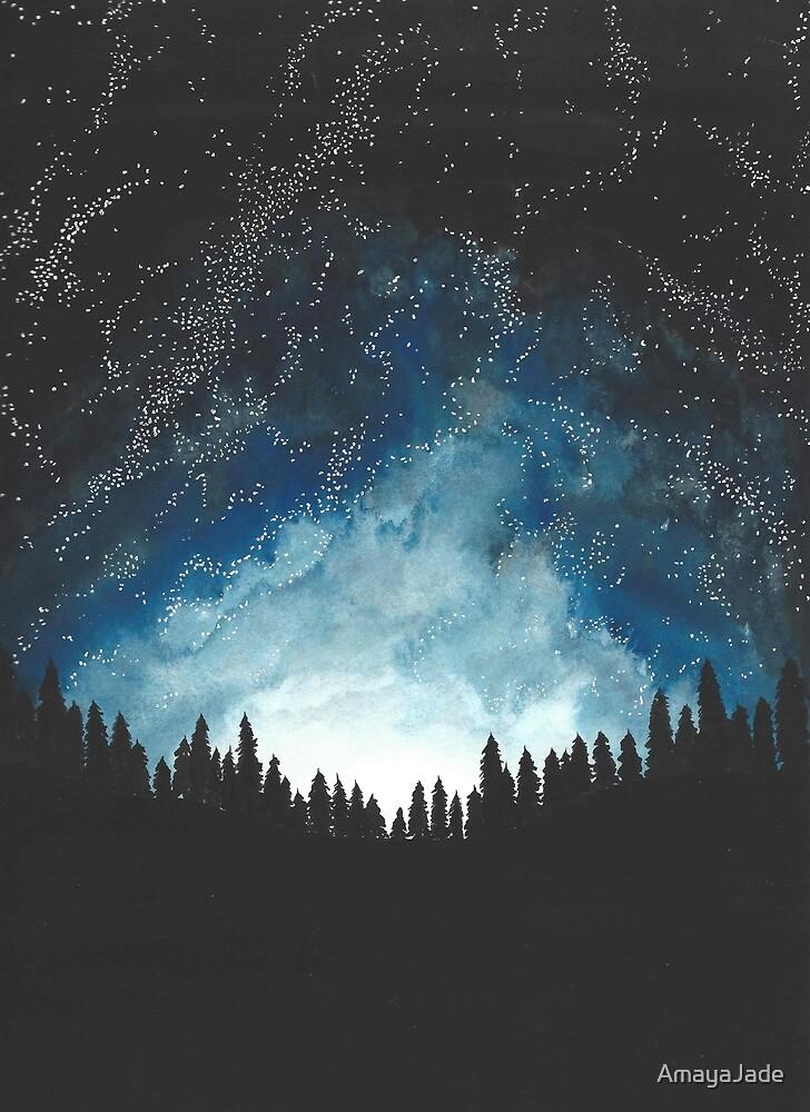 Night Sky by AmayaJade