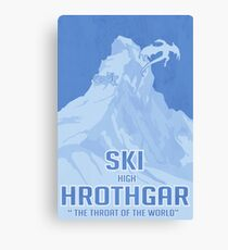 Ski Hrothgar Canvas Print