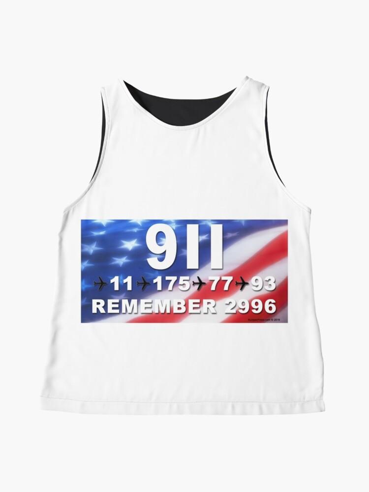 Alternate view of 9-11 Numbers Sleeveless Top