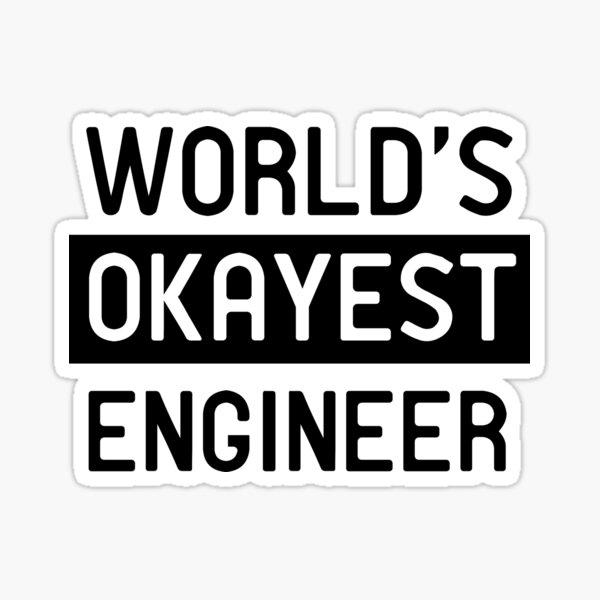 El mejor ingeniero del mundo Pegatina