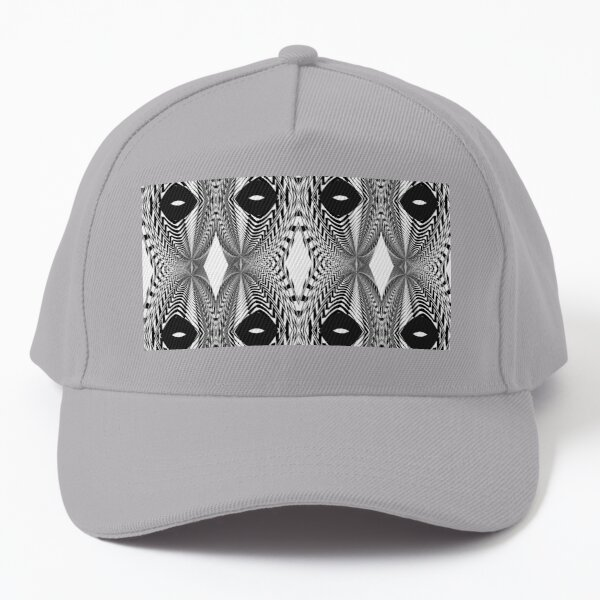 Abstract White and Black Template Baseball Cap
