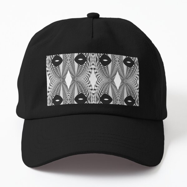 Abstract White and Black Template Dad Hat
