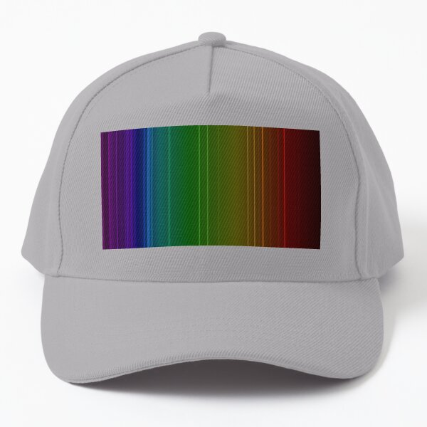 Emission spectrum of oxygen. When an electrical discharge is passed through a substance, its atoms and molecules absorb energy, which is reemitted as EM radiation Baseball Cap