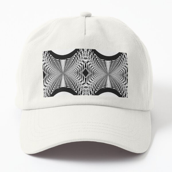 Black and White Pattern Dad Hat