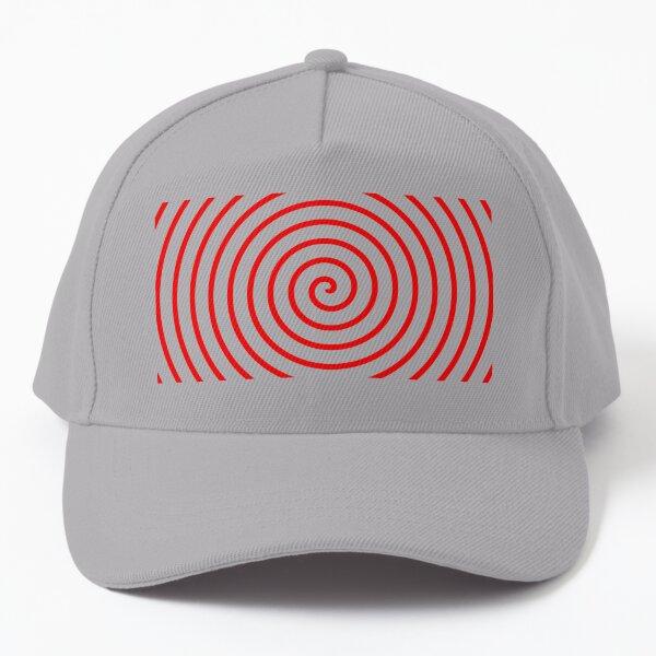 Red Spiral Baseball Cap