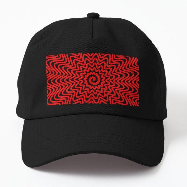 Red wavy spiral Dad Hat