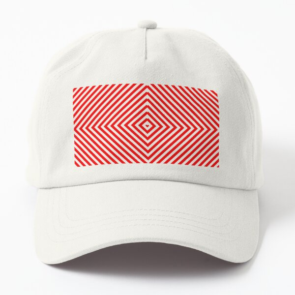Nested concentric red squares Dad Hat