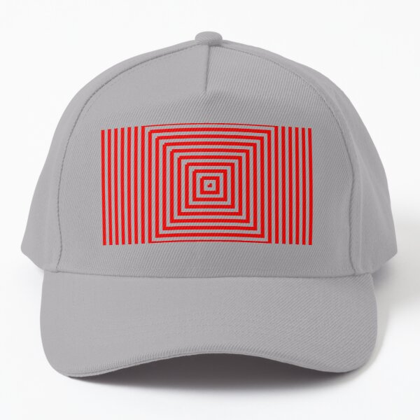 Nested concentric red squares Baseball Cap