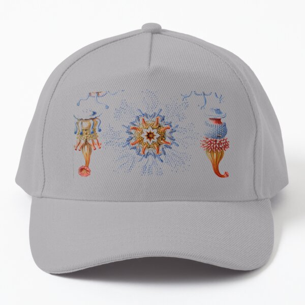 Haeckel Siphonophorae. Siphonophorae is an order of Hydrozoans, a class of marine organisms belonging to the phylum Cnidaria Baseball Cap