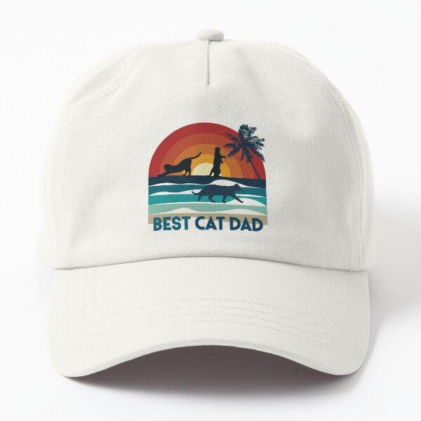 Best cat dad, chat sur coucher de soleil à la plage Casquette Dad Hat