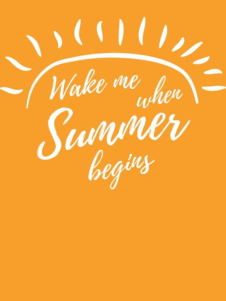 Wake me when summer begins by careers