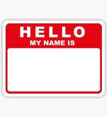 Hallo mein Name ist (rot) Sticker