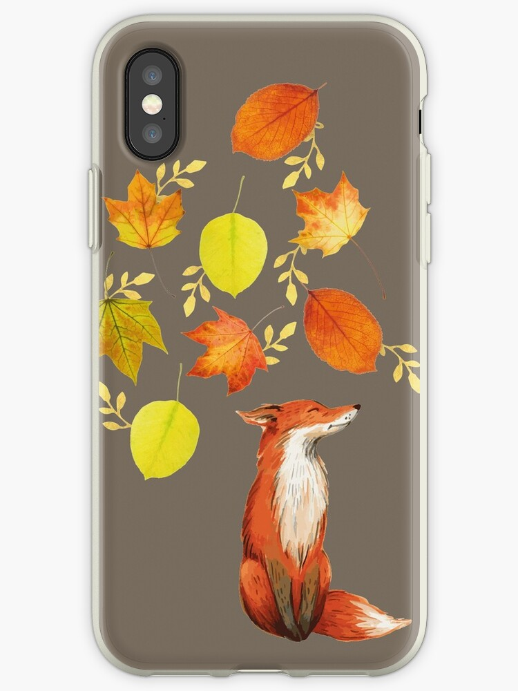 Fall Fox On Grey by Heureux Lifestyle