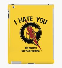 I HATE TIMETRAVEL iPad Case/Skin