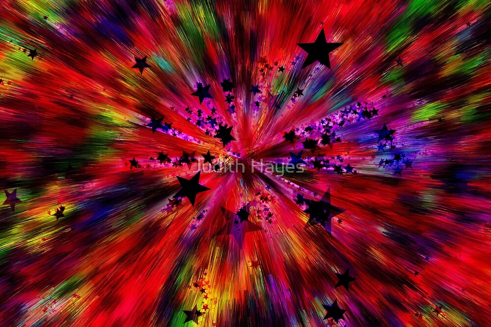 Rainbow Explosion by Judith Hayes