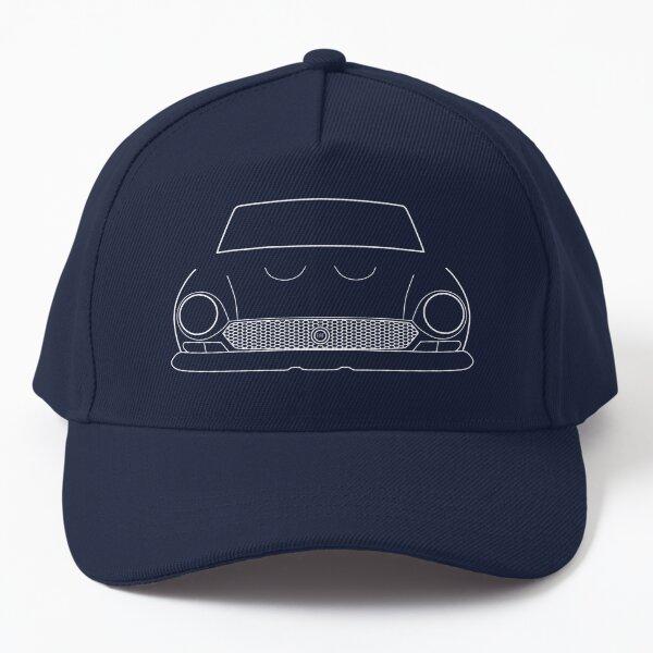 1970s Fiat 124 Sport Spider classic car white outline graphic Baseball Cap