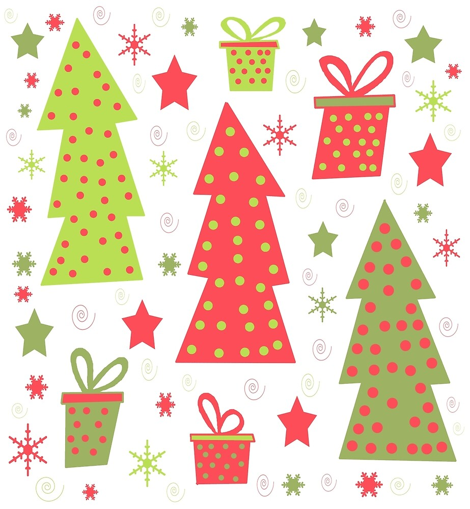Christmas design - green and red by ValentinaHramov