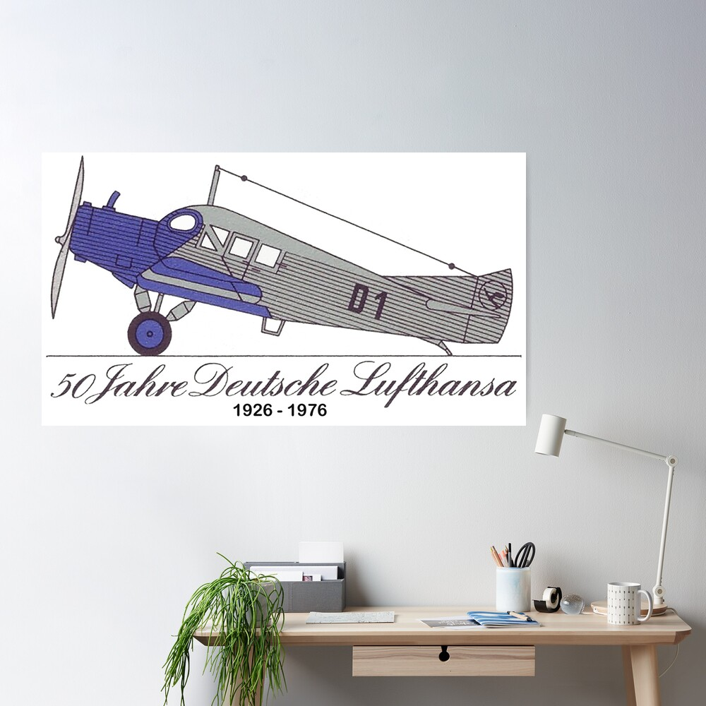 Fifty Years Lufthansa, 1926 to 1976 Poster
