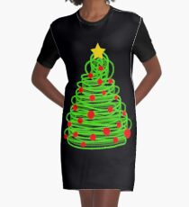 Christmas tree Graphic T-Shirt Dress