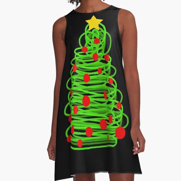 Christmas tree A-Line Dress
