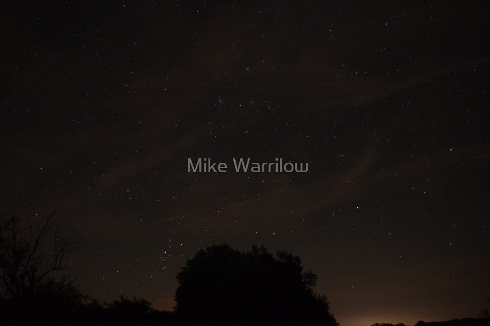 A starry night in France by Mike Warrilow