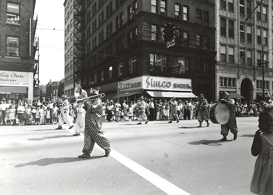 Clowns Downtown - Youngstown, Ohio, 1960s by MetroStore