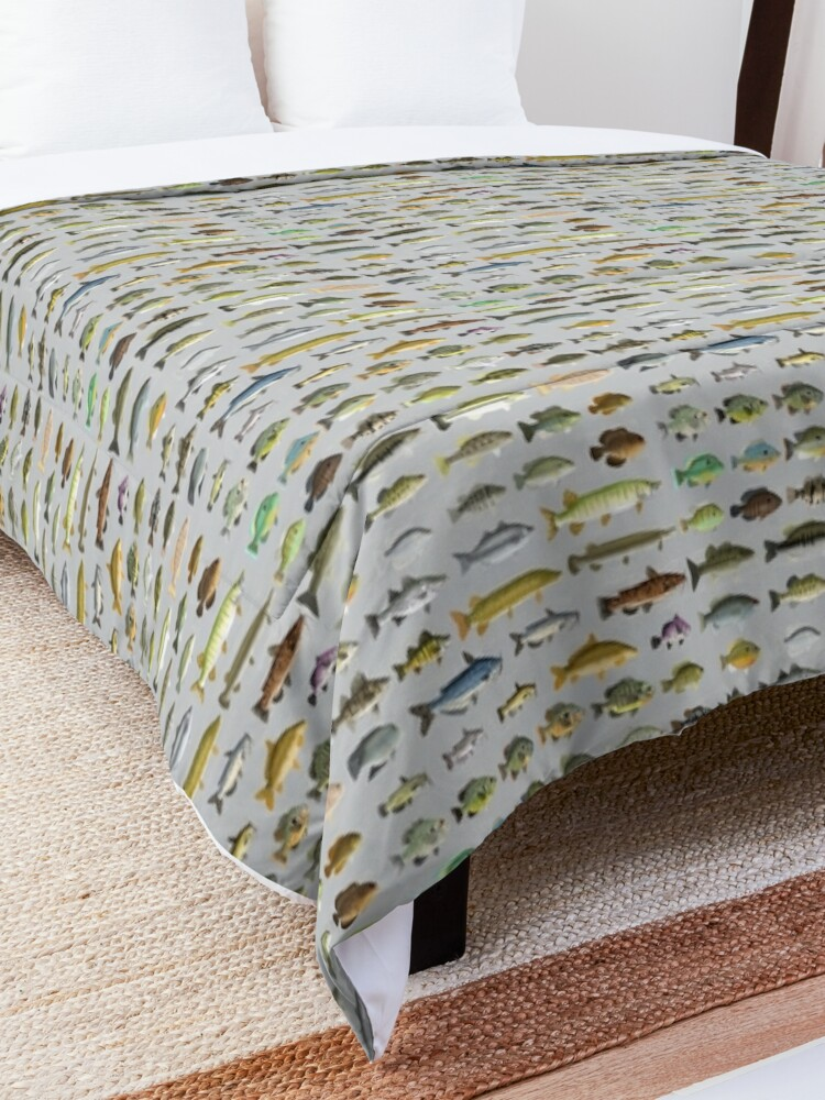 Alternate view of North American Freshwater Fish Group Comforter