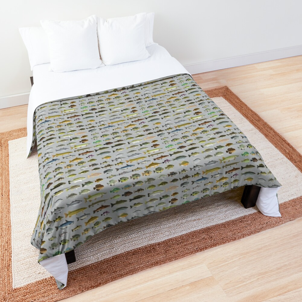 North American Freshwater Fish Group Comforter