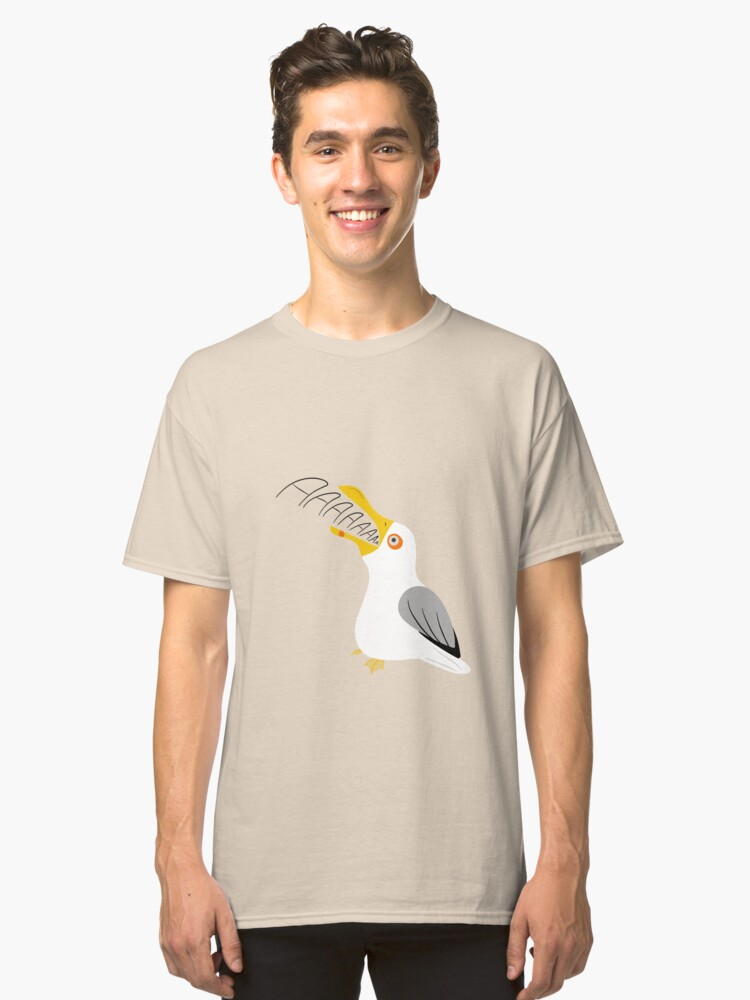 The screaming seagull Classic T-Shirt Front