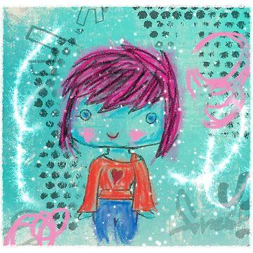 Crayon Girl by Earthdancer