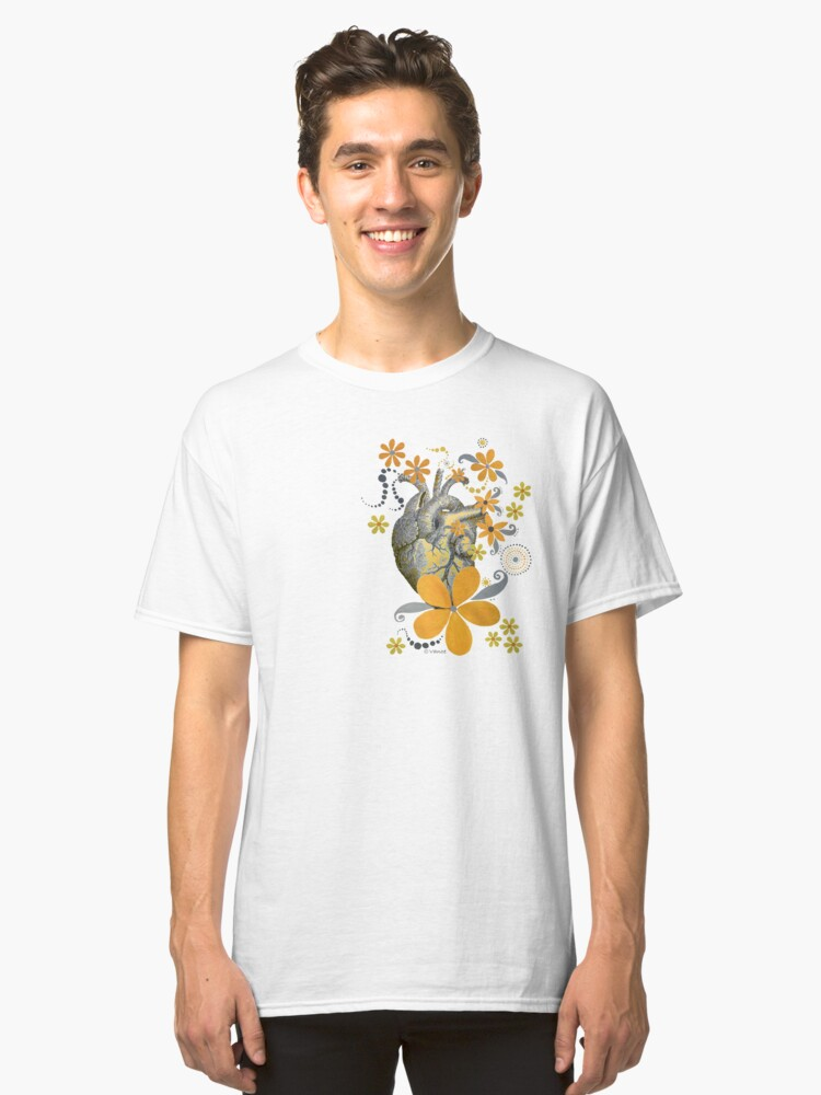 HEART OF THE GARDEN - YELLOW FLORAL DESIGN Classic T-Shirt Front