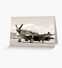 P-51 Classic Mustang WW2 Fighter Plane Greeting Card