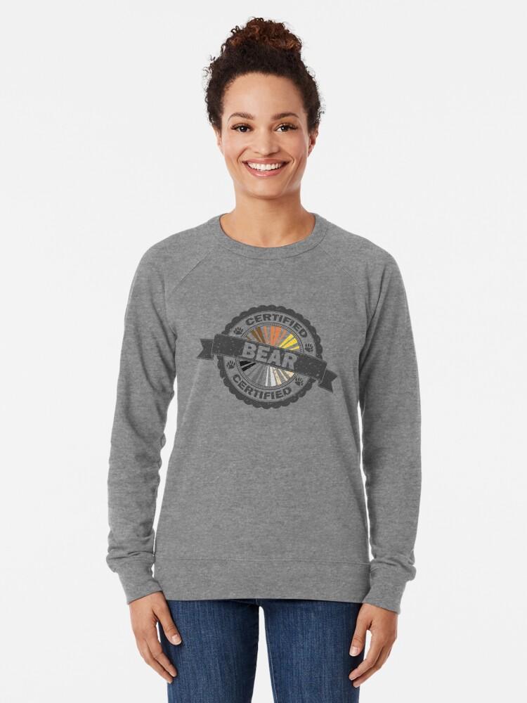 Alternate view of Certified Bear Stamp Lightweight Sweatshirt