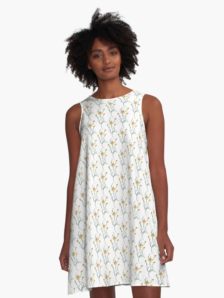 A memory from the Botanical Gardens A-Line Dress Front
