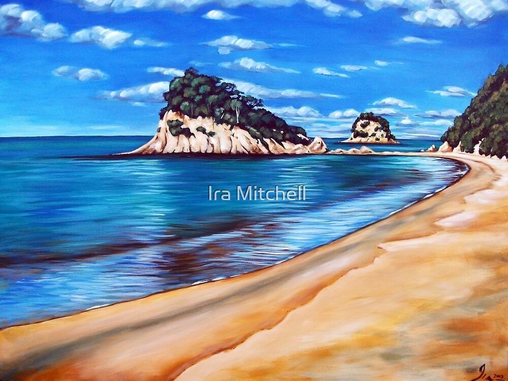 Kaiteriteri Beach New Zealand NZ by Ira Mitchell-Kirk