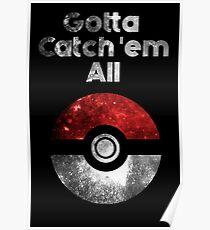Pokemon Minimalist Nebula Design Poster