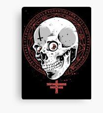 Doom and Gloom Skull Canvas Print