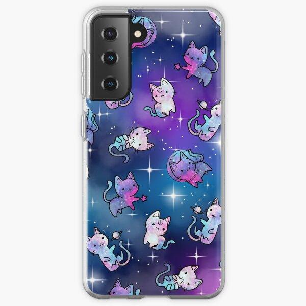 Space Kitties Coque souple Samsung Galaxy