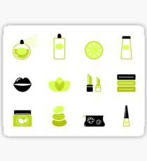 Modern cosmetics and spa icons : unique in our Designers Shop Sticker