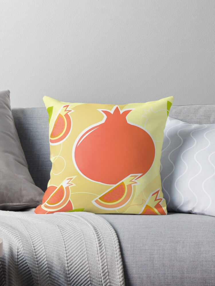 Retro Pomegranate texture or background by Bee and Glow Illustrations Shop