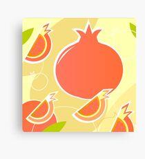 Retro Pomegranate texture or background Canvas Print