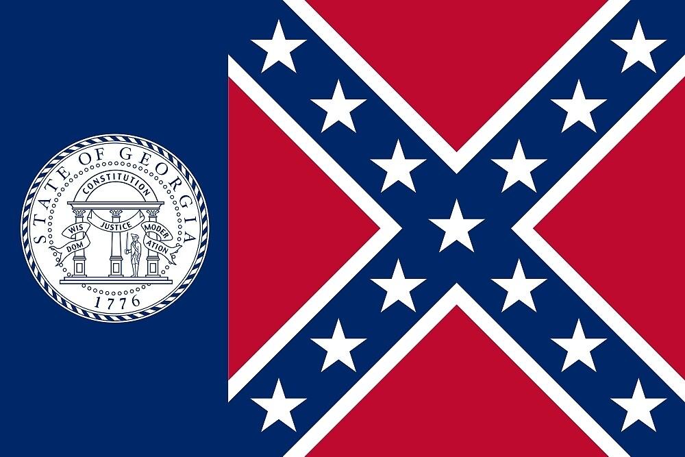 Flag of Georgia, 1956-2001  by abbeyz71