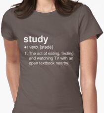 Funny Study Definition Women's Fitted T-Shirt