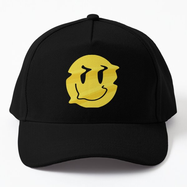 Melt Smile- Smiley- acid house - T-shirt- Phone cases- dress- stationery Baseball Cap