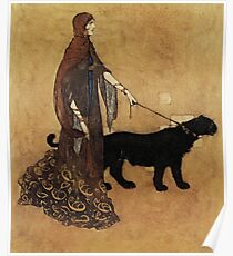 """""""The Queen of the Ebony Isles"""" by Edmund Dulac Poster"""